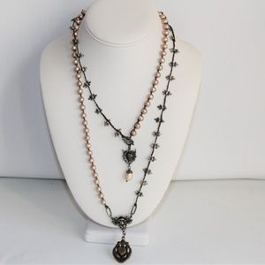 One-of-a-Kind Fitrou Pearl, Antiqued Necklace